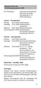 FoRTBILDUNGSPRoGRAMM 2009 - Vereinigung der Straßenbau ... - Seite 3