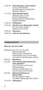 FoRTBILDUNGSPRoGRAMM 2009 - Vereinigung der Straßenbau ... - Seite 6
