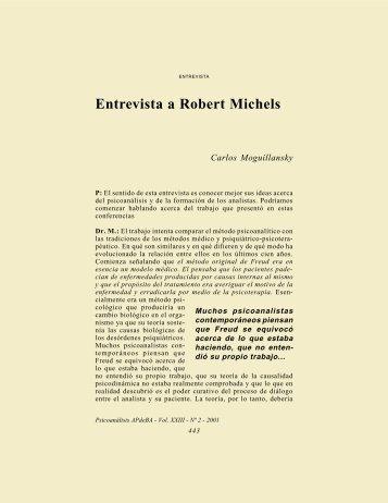 Entrevista a Robert Michels