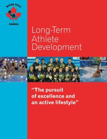The pursuit of excellence and an active lifestyle - Water Polo Canada