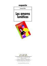 Los amores lunáticos - Anaya Infantil y Juvenil