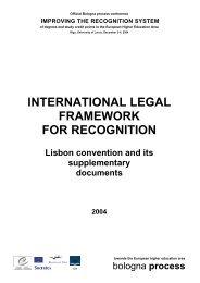International legal framework for recognition