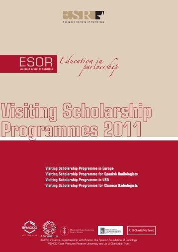 Visiting Scholarship Programme in Europe Visiting ... - myESR.org