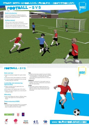 Football competition card - School Games