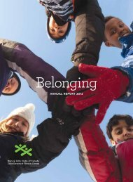 View the 2012 Annual Report - Boys and Girls Clubs of Canada