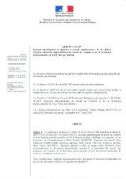 Vu l'arrêté ministériel du 22 Mars 2010 nommant Mme Pascale ...