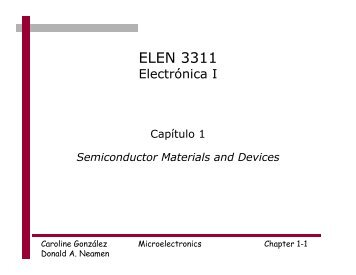Semiconductor Materials and Devices