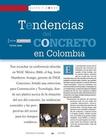 Tendencias del concreto en Colombia - Instituto Mexicano del ...