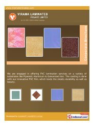 Contact Details: Virama Laminates Private Limited