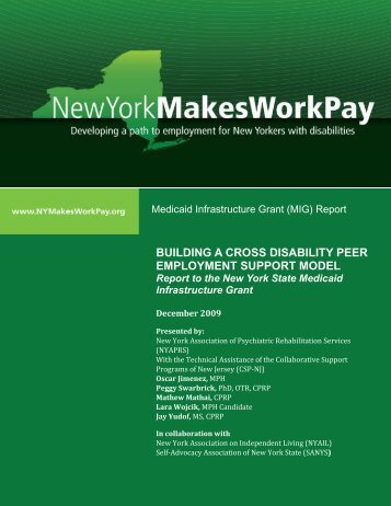 Building a Cross Disability Peer Employment Support Model