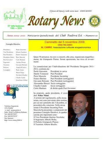 Bollettino 10 - Rotary International Distretto 2060