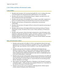 Code of Ethics and Rules of Professional Conduct - - National ...