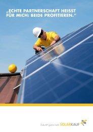 echte partnerschaft heisst für mich: beide profitieren. - Solarkauf