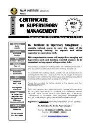 Certificate in Supervisory Management