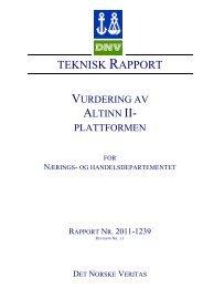 TEKNISK RAPPORT