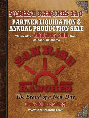 SonriSe rancheS LLc - Angus Journal