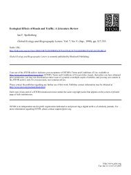 Ecological Effects of Roads and Traffic: A Literature Review Ian F ...