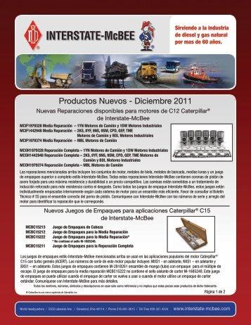 Productos Nuevos - Diciembre 2011 - Interstate McBee