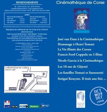 Oct Nov Dec 2008 - Cinémathèque de Corse