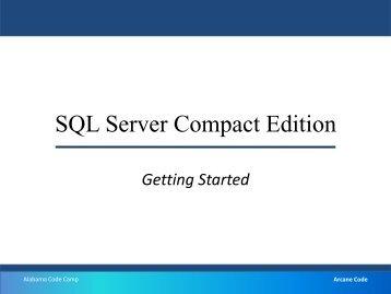 SQL Server Compact Edition - WordPress – www.wordpress.com