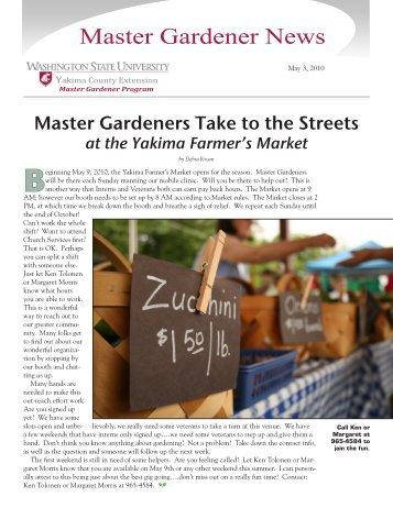Master Gardener News - Yakima County