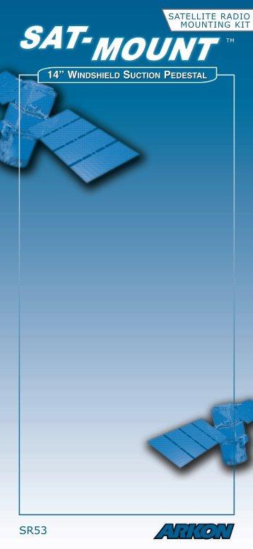"""14"""" windshield suction pedestal - XM Radio Satellite"""