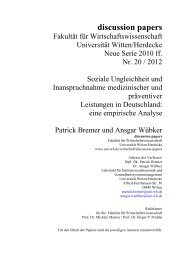discussion papers - Universität Witten/Herdecke