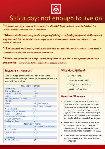 allowances fact sheet - Australian Council of Social Service