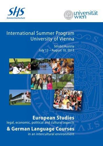 International Summer Program University of Vienna European ...