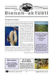 bienen-aktuell Nr. 40 - Liechtensteiner Imkerverein