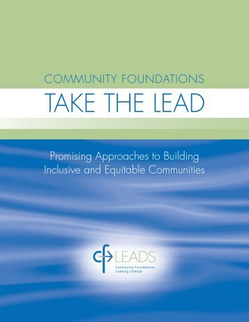 Community Foundations Take the Lead - CFLeads