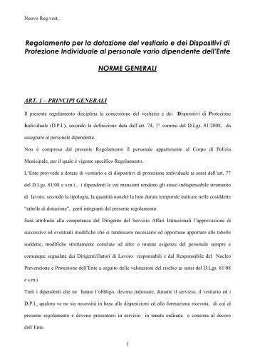 Nuovo Reg.vest. 2013.pdf - Comune di Reggio Emilia
