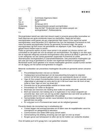 08b memo burgerparticipatie bij woninginbraken.pdf - Gemeente ...