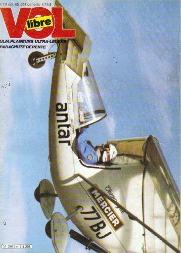 vol libre n° 111 1985 le mistral