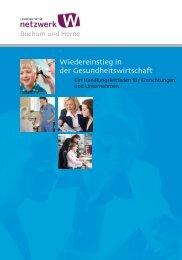"""""""Wiedereinstieg in der Gesundheitswirtschaft"""" (PDF)"""