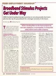 Broadband Stimulus Projects Get Under Way Broadband Stimulus ...