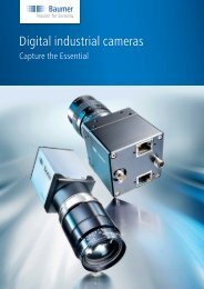 Digital industrial cameras - Capture the Essential - Baumer