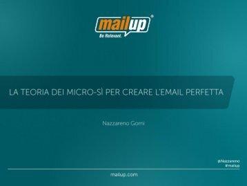 Presentazione e-Commerce Forum 2012 (PDF - 4.6MB) - MailUp