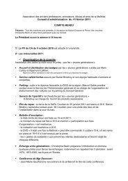 Conseil d'Administration du 15 février 2011 - Les Maitrisiens