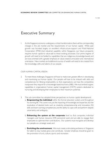 Executive Summary - Ministry of Trade and Industry