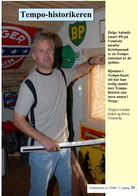 Tempo-historikeren - Norsk Tempoklubb