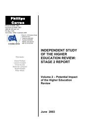INDEPENDENT STUDY OF THE HIGHER EDUCATION REVIEW ...