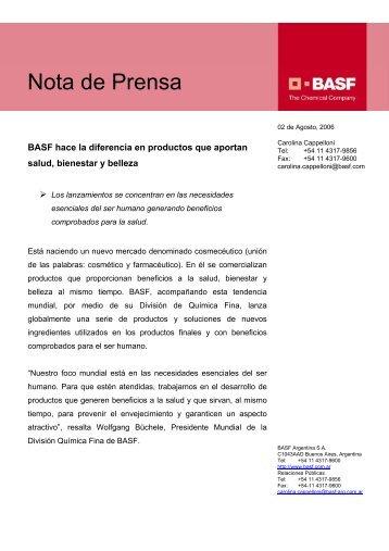 02-08-06 - BASF hace la diferencia en productos que aportan salud