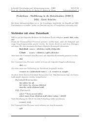 DB2 - Erste Schritte - dbis