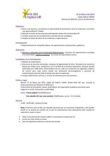 Feria del Empleo - Universidad Regiomontana