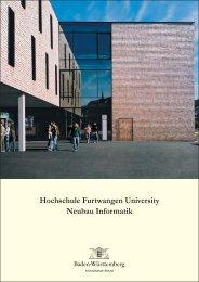 Hochschule Furtwangen University Neubau Informatik - VBA Konstanz
