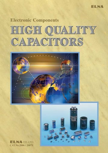 Capacitor catalog 2006/2007E was exhibited. (3857KB)