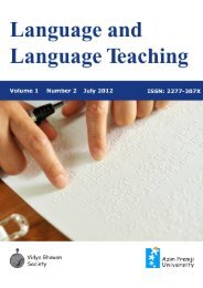 Language and Language Teaching, Issue 2 - Azim Premji Foundation