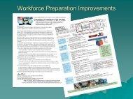 Workforce Preparation Improvements - NSRP