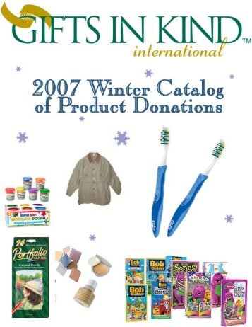 Gifts In Kind's Fall Catalog - Valley United Way